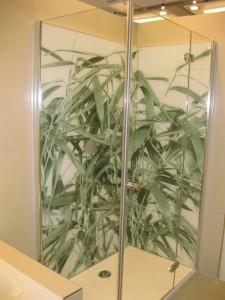 banyo duş kabin cam baskı