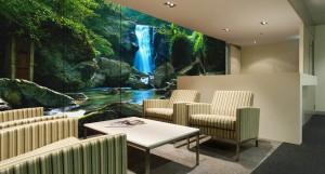 lobi otel giriş cam baskı