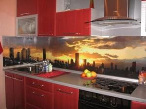 mutfak tezgah arası cam baskı