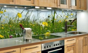 mutfak tezgah arası cam