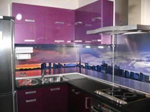 mutfak tezgah arası cam uygulama